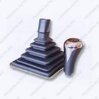 Ручка КПП с чехлом+рамка (хром)