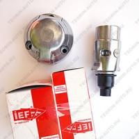 Разъём прицепного устройства IEF 12V металл (комплект) 7контактов