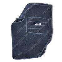 Ковры внутрисалонные ворсовые комплект 4шт. для ВАЗ 11180 (Type-R)