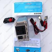 Автомобильный преобразователь напряжения +USB-выход (инвертор -12V/∼220V) Модель 600W