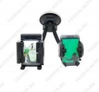 Двойной универсальный держатель для сот.телефона, MP3, MP4, КПК, GPS.  Гибкий кронштейн.
