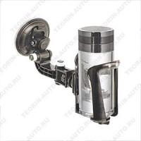 Универсальный держатель для стаканов, бутылок, банок, термосов. Жёсткий  3х точечный кронштейн.