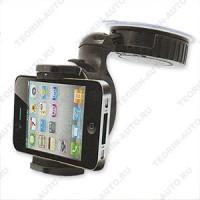 Универсальный держатель (mini) для сот.телефона, MP3, MP4, КПК, GPS. Шарнирный крепёж-надёжен и универсален.