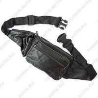 Сумка поясная +карман для телефона из кожи (40см-15см).