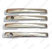 Накладки на ручки открывания дверей ВАЗ 2109-99 хром (комплект 4шт.)