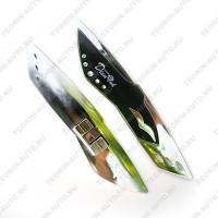 Аэроприжим (сполер) для щёток стеклоочистителя хром (комплект 2шт.)  Diamond GSR-2011
